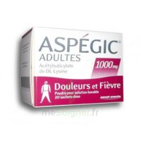 ASPEGIC ADULTES 1000 mg, poudre pour solution buvable en sachet-dose 20 à RUMILLY