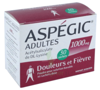 Aspegic Adultes 1000 Mg, Poudre Pour Solution Buvable En Sachet-dose 30 à RUMILLY