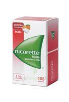 Nicorette 2 mg Gomme à mâcher médicamenteuse sans sucre fruits Plq/105 à RUMILLY