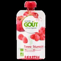Good Goût Alimentation infantile pomme framboise Gourde/120g à RUMILLY
