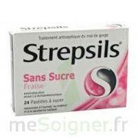 Strepsils Fraise Sans Sucre, Pastille édulcorée à L'isomalt, Au Maltitol Et à La Saccharine Sodique à RUMILLY