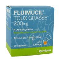 FLUIMUCIL EXPECTORANT ACETYLCYSTEINE 200 mg SANS SUCRE, granulés pour solution buvable en sachet édulcorés à l'aspartam et au sorbitol à RUMILLY