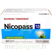 Nicopass 1,5 Mg Pastille Sans Sucre Menthe Fraîcheur Plq/96 à RUMILLY