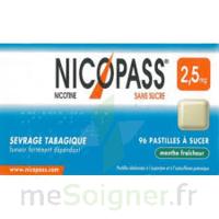 Nicopass 2,5 Mg Pastille Menthe Fraîcheur Sans Sucre Plq/36 à RUMILLY