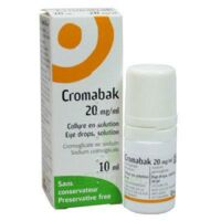 Cromabak 20 Mg/ml, Collyre En Solution à RUMILLY