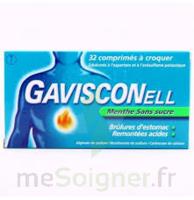 Gavisconell Coprimés à Croquer Sans Sucre Menthe édulcoré à L'aspartam Et à L'acésulfame Potas Plq/24 à RUMILLY
