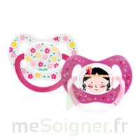Dodie Duo Sucette Anatomique Silicone +18mois Girly à RUMILLY
