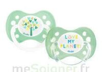 Dodie Duo - Sucette Anatomique Silicone 0-6mois - Love My Planet B/2 à RUMILLY