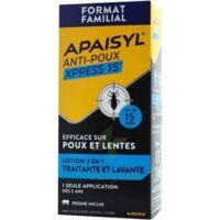 Apaisyl Anti-poux Xpress 15' Lotion antipoux et lente 200ml+peigne à RUMILLY