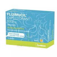 FLUIMUCIL EXPECTORANT ACETYLCYSTEINE 600 mg Glé s buv adultes 10Sach à RUMILLY