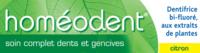 Boiron Homéodent Soin Complet Dents Et Gencives Pâte Dentifrice Citron 2t/75ml à RUMILLY